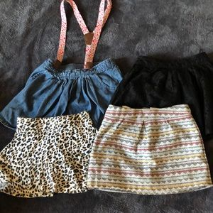Four size 4 skirts
